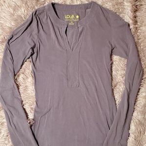 Lolë Dusty Mauve Purple Long Sleeve V Neck Shirt